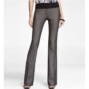 Black And Grey Editor Wide Waistband Pants